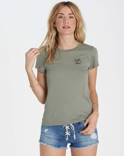 0 Restless Heart Tee Green J441MRES Billabong