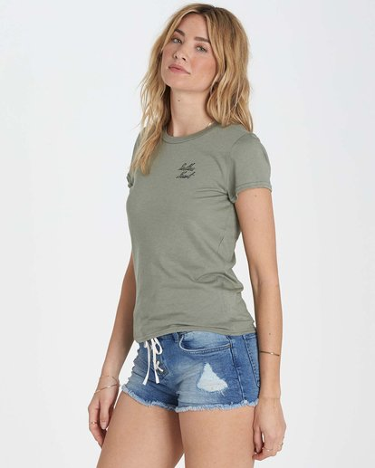 1 Restless Heart Tee Green J441MRES Billabong