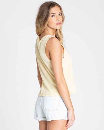 2 Just Beachy Muscle Tee Yellow J442TBJU Billabong