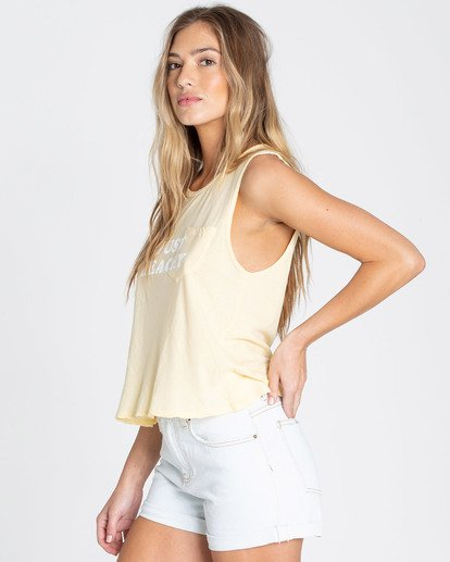 1 Just Beachy Muscle Tee Yellow J442TBJU Billabong