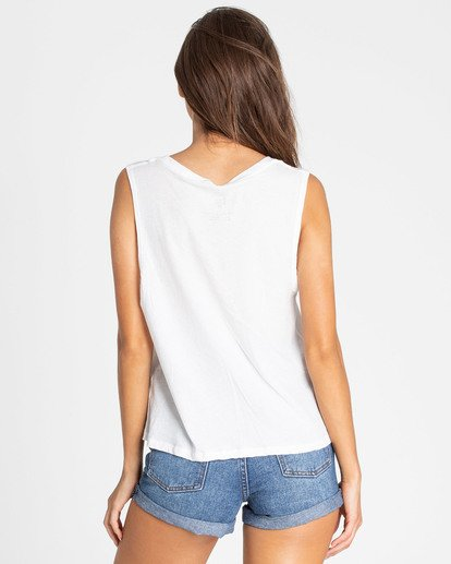 3 Stay Chil Muscle Tee White J442TBST Billabong