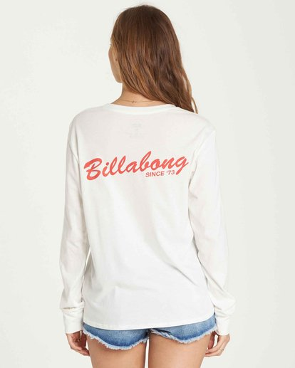2 Old School Long Sleeve Tee White J446QBOL Billabong