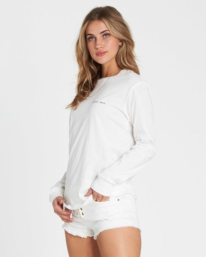 1 Love Me Long Sleeve Tee White J446SBLO Billabong