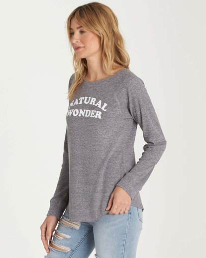 1 Natural Wonder Long Sleeve Tee Grey J447MNAT Billabong