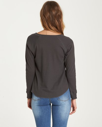 2 Love Billabong Thermal Long Sleeve Tee Black J447QBLO Billabong