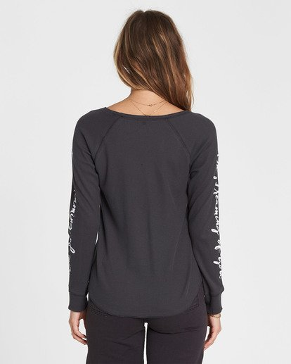 2 Daydreaming Thermal Long Sleeve Tee Black J447SBDA Billabong