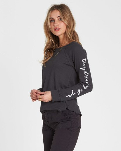 1 Daydreaming Thermal Long Sleeve Tee Black J447SBDA Billabong