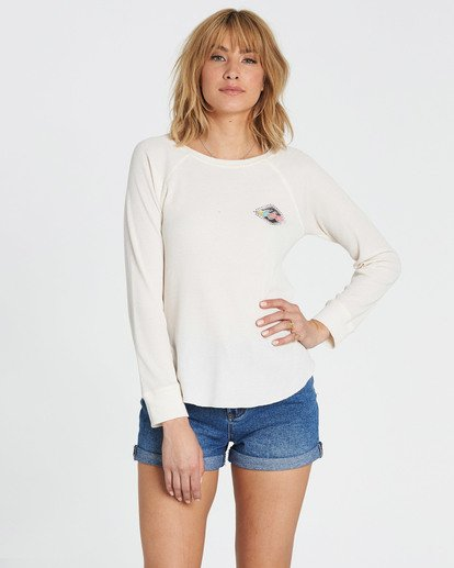 0 Heritage Spirit Thermal Long Sleeve Tee White J447SBHE Billabong
