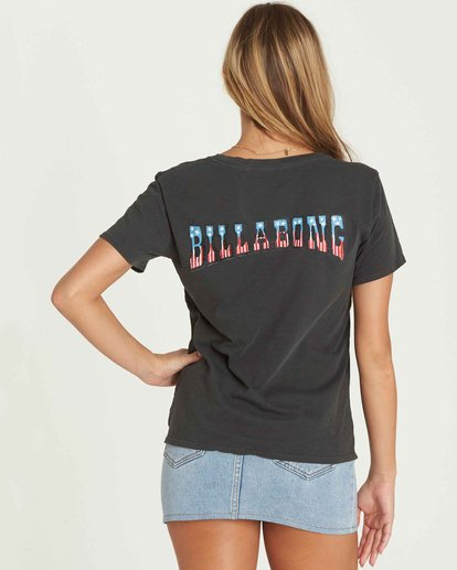 2 Star Spangled Tee Black J467PBST Billabong