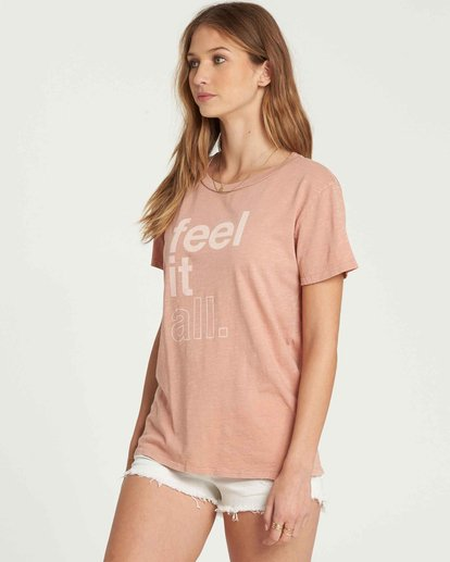 1 Feel It All Tee Beige J467QBFE Billabong