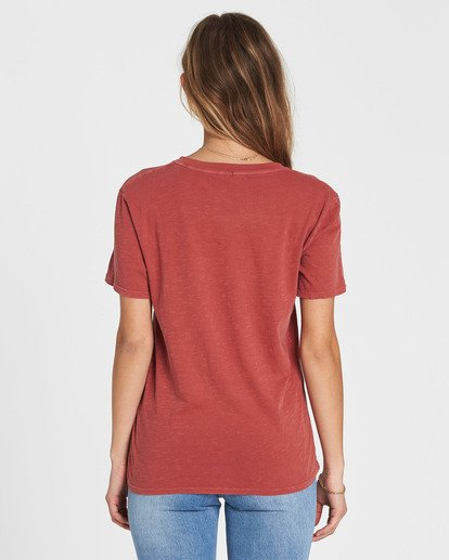 2 Be A Tourist Tee Red J467SBBE Billabong