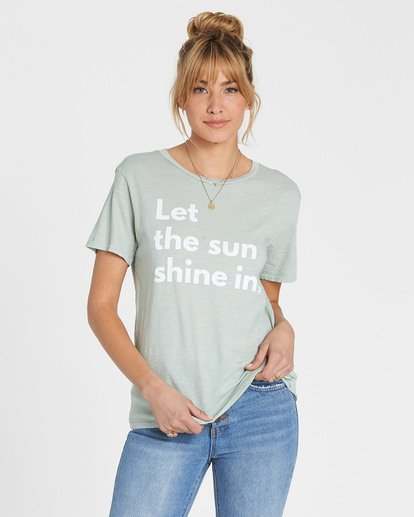 0 Let The Sun Shine In Tee Blue J467SBLE Billabong