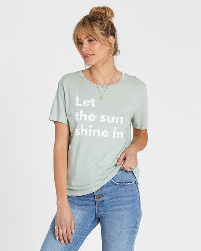 1 Let The Sun Shine In Tee Blue J467SBLE Billabong