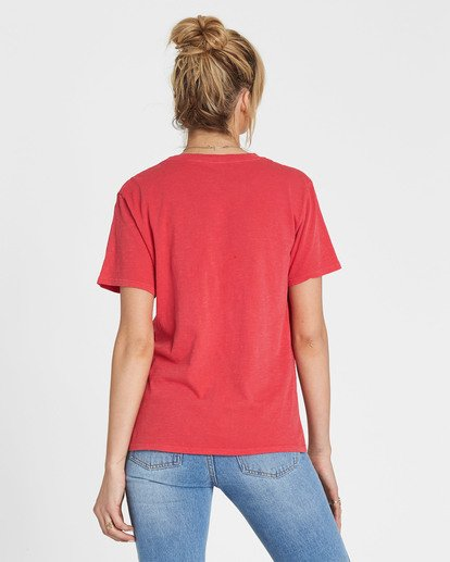 2 Red Rose Dream Tee Red J467SBRE Billabong