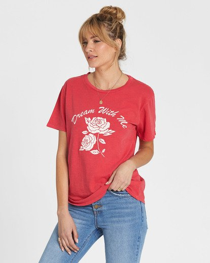 1 Red Rose Dream Tee Red J467SBRE Billabong