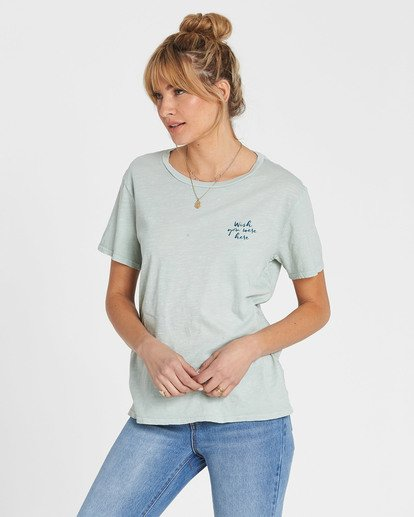 1 Wish You Were Here Tee Blue J467SBWI Billabong