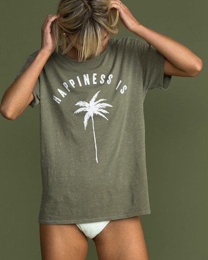 0 Happiness Is Tee Green J467TBHA Billabong