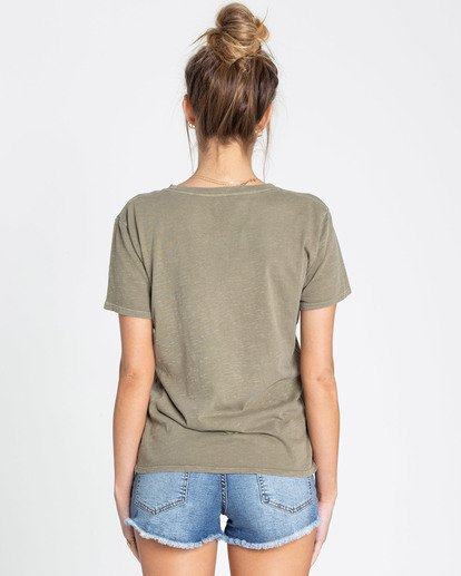 2 Happiness Is Tee Green J467TBHA Billabong