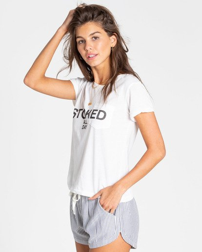 2 Stoked All Day Tee White J477TBST Billabong