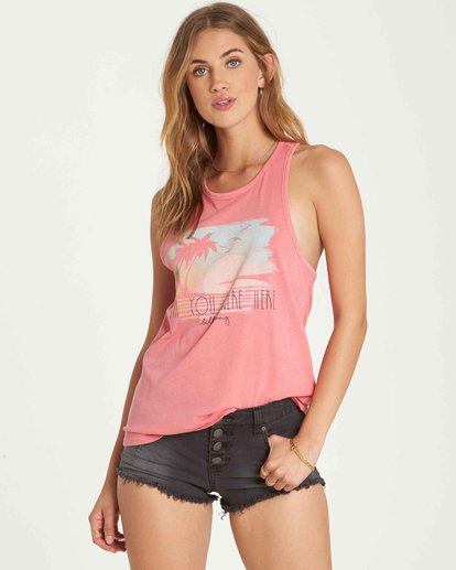 0 Wish You Were Here Tank Pink J479QBWI Billabong