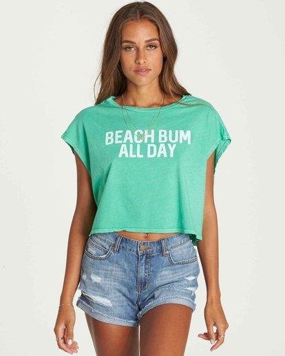 1 Beach Bum Crop Tee Green J495PBBE Billabong
