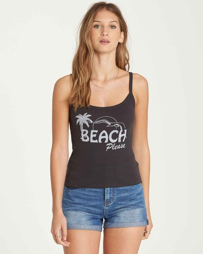 0 Beach Please Tank Black J496QBBE Billabong