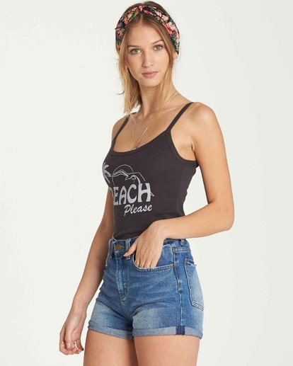 2 Beach Please Tank Black J496QBBE Billabong