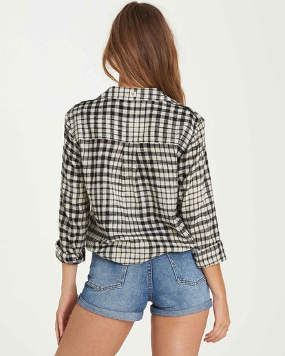 3 Venture Out Plaid Top Black J501QBVE Billabong