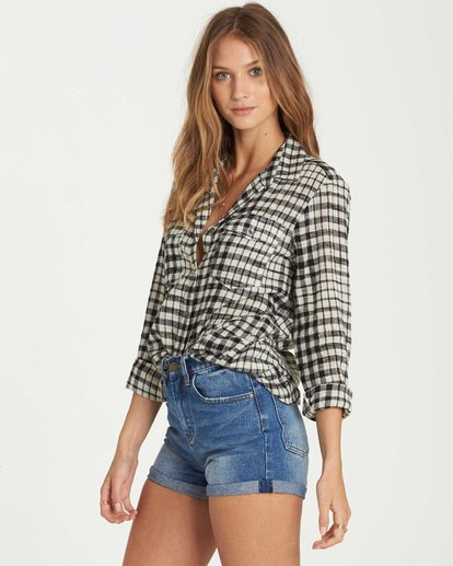 2 Venture Out Plaid Top Black J501QBVE Billabong