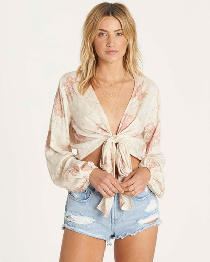 2 Breathe Light Top Beige J502NBBR Billabong