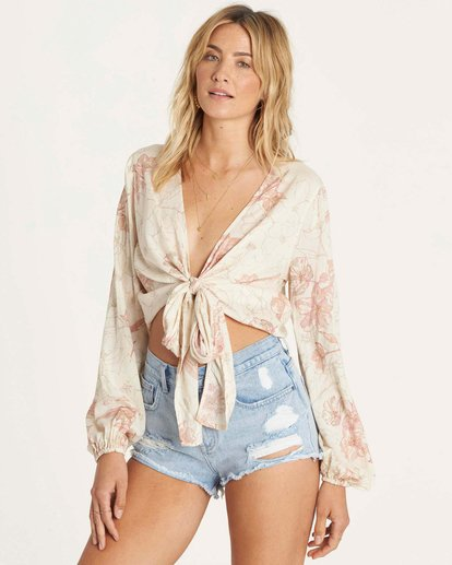 3 Breathe Light Top Beige J502NBBR Billabong