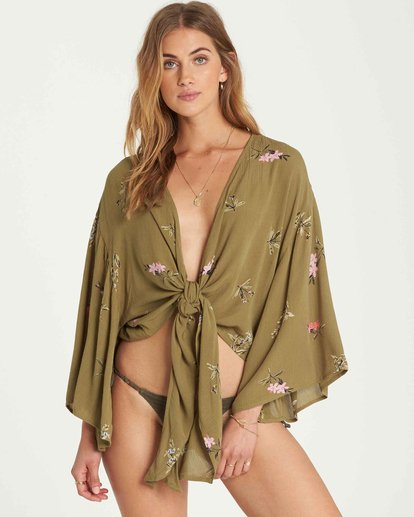 1 Knot Yours Wrap Top  J502QBKN Billabong