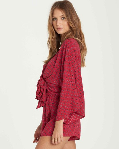 1 Knot Yours Wrap Top Red J502QBKN Billabong
