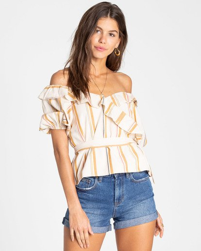 0 Babes All Day Wrap Top White J502TBBA Billabong