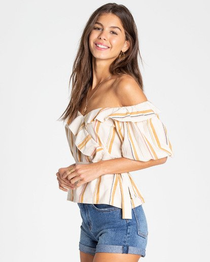 1 Babes All Day Wrap Top White J502TBBA Billabong