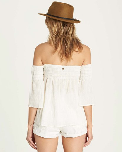2 Free Flow Lurex Top White J504MFRE Billabong