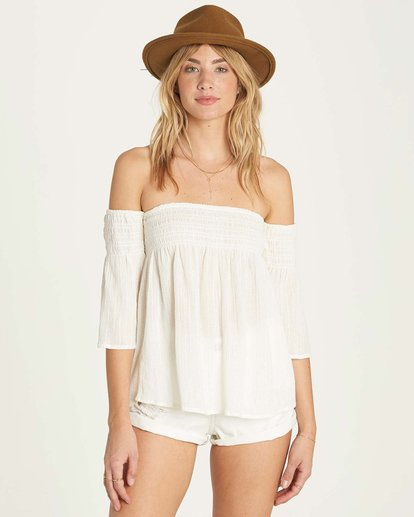 0 Free Flow Lurex Top White J504MFRE Billabong