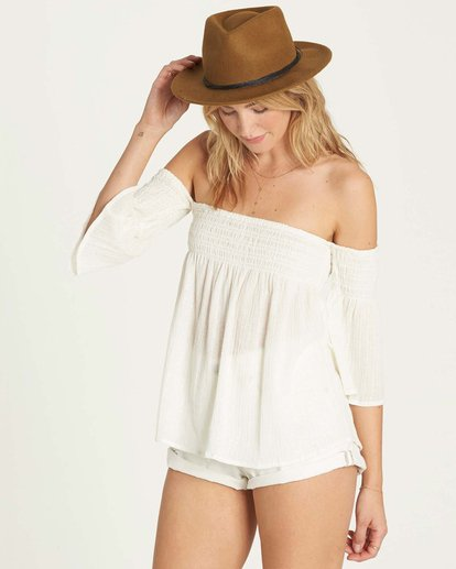 1 Free Flow Lurex Top White J504MFRE Billabong