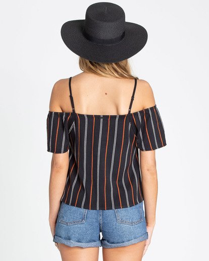 2 Summer Fling Cold Shoulder Top Black J504TBSU Billabong