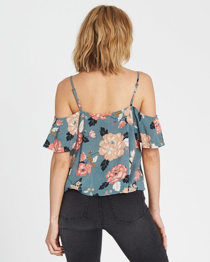 2 For You Floral Print Top Beige J507SBFO Billabong