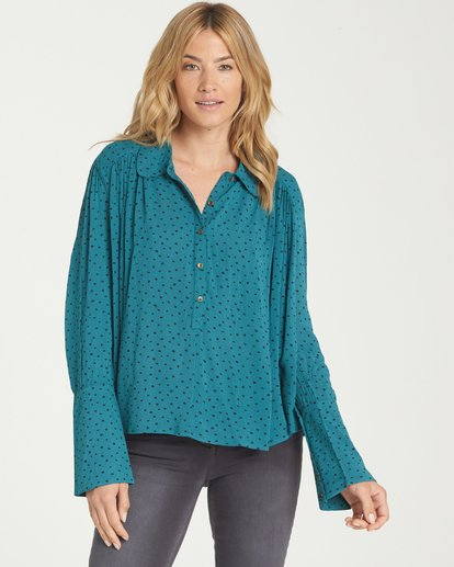 0 Groovy Moves Top Blue J511MGRO Billabong