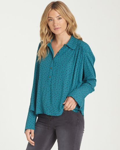 1 Groovy Moves Top Blue J511MGRO Billabong