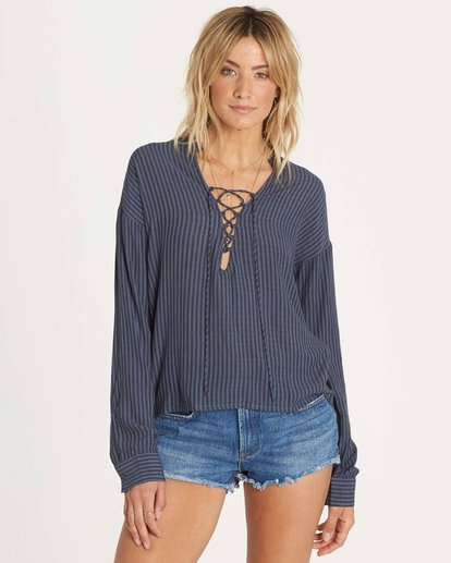 1 Finding Happiness Top Blue J511NBFI Billabong