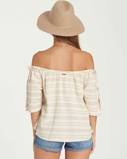 2 Match Up Off-The-Shoulder Top Beige J512QBMA Billabong