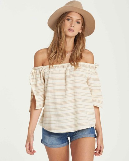 0 Match Up Off-The-Shoulder Top Beige J512QBMA Billabong