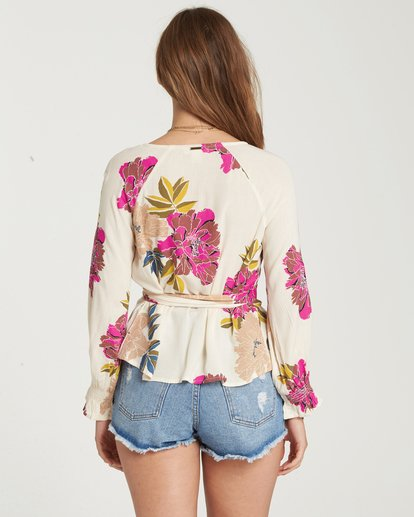 2 Daisy Wrap Top Beige J513QBDA Billabong