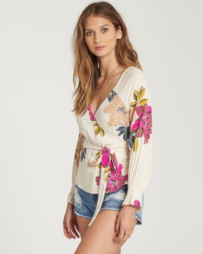 1 Daisy Wrap Top Beige J513QBDA Billabong