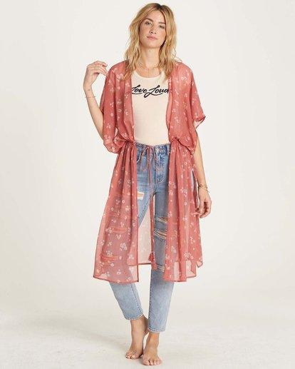 2 Calleys Sea Kimono Wrap Brown J516MCAL Billabong