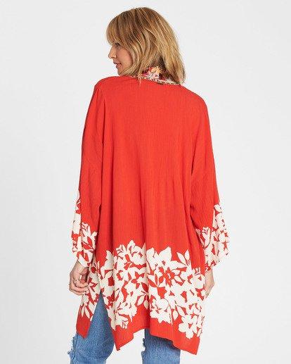 4 Fire Nights Kimono Red J521SBFI Billabong
