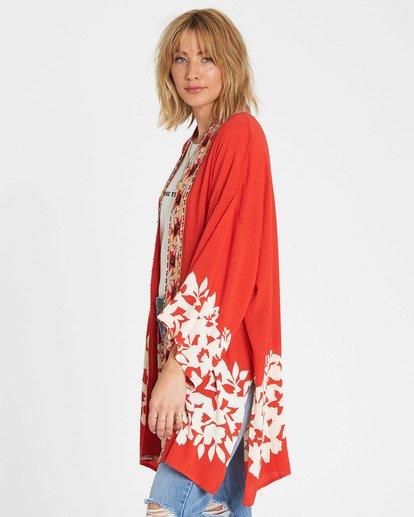 2 Fire Nights Kimono Red J521SBFI Billabong